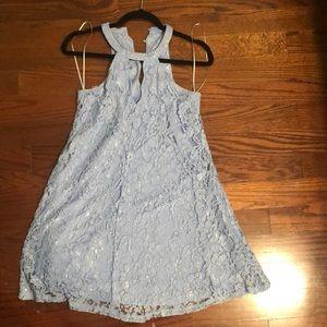 Francesca's blue lace dress